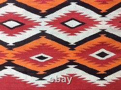 ANTIQUE NAVAJO TRANSITIONAL c. 1890 RUG Native American Textile WEAVING BLANKET
