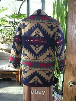 Beautiful Pendleton Wool Blanket Jacket Coat Navajo Native Print