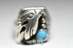 Eagle ring Navajo turquoise southwest sterling silver men women