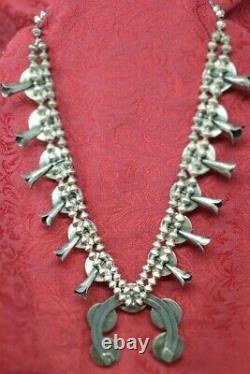 Navajo Vintage Sterling Silver & Turquoise Southwest Old Pawn Squash Blossom