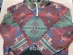 Polo Ralph Lauren Native American Aztec Navajo Pullover Hoodie Sweatshirt XL