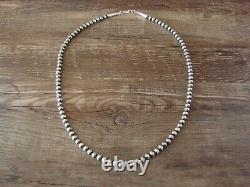 Sterling Silver Navajo Pearl Hand Strung 20 Necklace by John