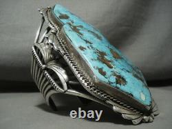 The Best And Biggest Vintage Navajo Turquoise Silver Bracelet On The Internet