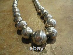 20 Dynamite Vintage Navajo Diplôme Argent Sterling Pearls Collier De Perles