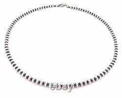 20 Perles Navajo Argent Sterling Collier De Perles De 5mm