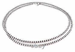 28 Perles Navajo Argent Sterling Collier De Perles De 4mm