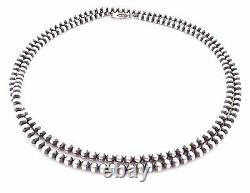 30 Perles Navajo Argent Sterling Collier De Perles De 5mm