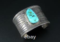 Ambrose Roanhorse Navajo Bracelet En Argent Sterling Et Turquoise