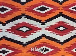 Antique Navajo Transition C. 1890 Tapis Couverture De Tissage Textile Amérindien