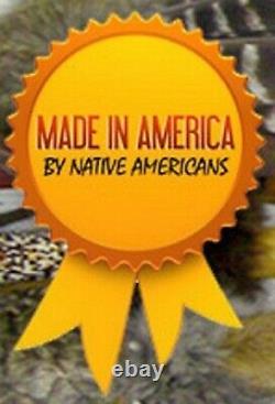 Authentique Native American Navajo Quiver À La Main De La Peau De Cerf Et Ensemble De Flèches