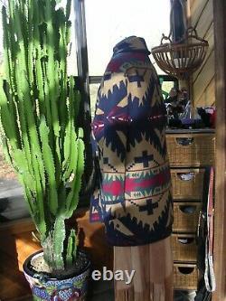 Belle Veste De Couverture En Laine De Pendleton Manteau Navajo Native Print