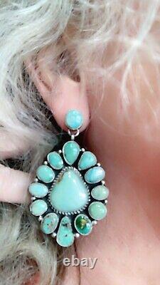 Boucles D'oreilles En Grappe De Navajo Royston Turquoise Ss Geraldine James