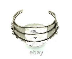 Bracelet De Cluster Lapis En Argent Sterling Fabriqué À La Main Par Navajo Juliana Williams