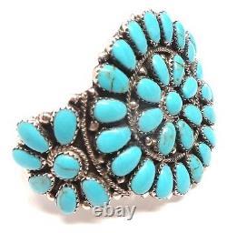 Bracelet En Argent Sterling Manufacturé Main Navajo Turquoise Bracelet Juliana Williams