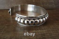 Bracelet En Argent Sterling Pour Bijoux Indiens Navajo Par Thomas Charley