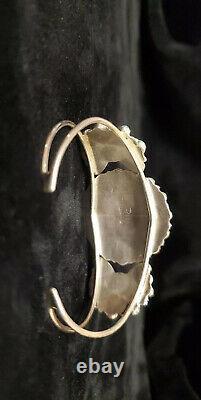 C54 Native American Navajo Bracelet De Cluster En Argent Sterling Fabriqué À La Main En Turquoise