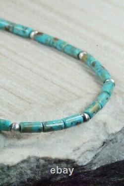 Collier En Argent Turquoise & Sterling Navajo