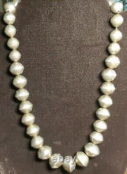 Collier Sterling Silver (navajo Pearl) Sterling Old Pawn Estampillé
