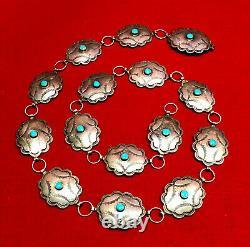 Concho Ceinture Sterling Argent 96 Grammes 35 Amérindiens