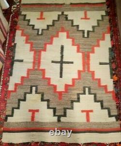Couverture Transitoire De 1890 Navajo Rug Native American Old Indian Textile