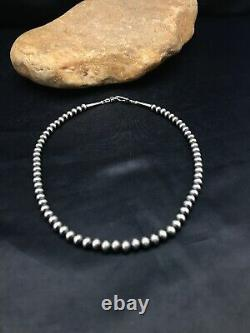 Enfants Native American Navajo Pearls 5 MM Perle En Argent Sterling Collier 12
