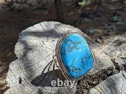 Énorme Bracelet Navajo Turquoise Sterling Silver Native American Jewelry