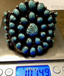Finest Museum A Exposé Mark Chee Navajo Sterling & #8 Bracelet De Manchette Turquoise