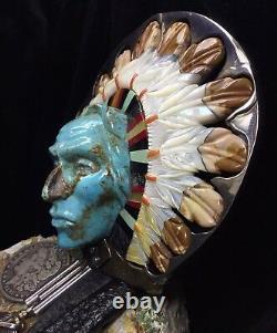 Gallery Quality, John Winston Huge Native American Sterling Bolo, 381,4 G