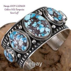 Golden Hill Bracelet Turquoise Argent Sterling Any Cadman Native American Cuff