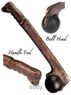 Hand Crafted Native American Woodland Ball Head Bear War Club Artifact
