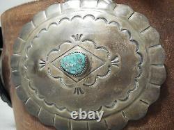 Huge Heavy Museum Vintage Navajo Turquoise Sterling Silver Concho Ceinture