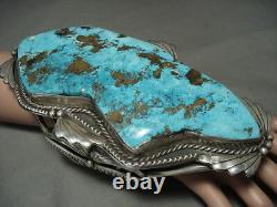 Le Meilleur Et Le Plus Grand Bracelet En Argent Turquoise Navajo Vintage Sur Internet