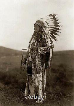 Native American Made Navajo Double Trailer War Bonnet Feather Headdress 72
