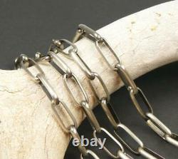 Native American Navajo Handmade 23g Sterling Silver 24 Collier Chaîne Liée
