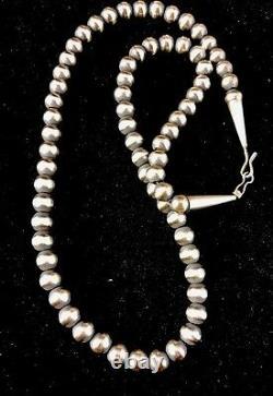 Native American Navajo Pearls 7mm Perles En Argent Sterling Collier 24 Vente 391