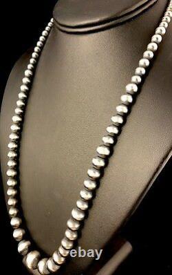 Native American Navajo Pearls Diplôme En Argent Sterling Collier De Perles 24 341