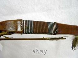 Native Amérindienne Faite Main Navajo Fait Rawhide Enroulé Bow And Arrow Set 44
