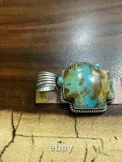Navajo Grand Bleu Kingman Turquoise Plus Pendentif Bernita Begay