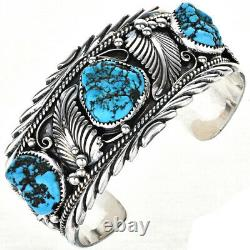 Navajo Made Big Boy Bracelet Mens Cuff Turquoise Silver Colin Farrell's Style