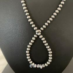 Nwot Native American Navajo Pearls Collier En Argent Sterling 5mm Nwot Native American Navajo Pearls 21 Vente