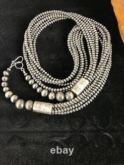 Pierres Navajo Stunning Collier En Argent Sterling 6 Pendentif En Brin 30 8525