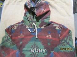 Polo Ralph Lauren Native American Aztec Navajo Pullover Sweatshirt À Capuche XL