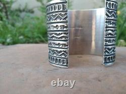 Sunshine Reeves Native American Sterling & Sleeping Beauty Turquoise Cuff Signé