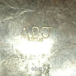 Vieil Abj Navajo Sterling Argent + Barrette À Cheveux Amérindienne Turquoise