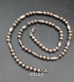 Vieilles Perles De Banc En Argent Sterling Native Navajo Old Pawn Lot