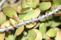 Vintage En Argent Sterling Navajo Pearls Bench Bead & Saucer Disque Collier 18.5