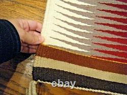 Vintage Navajo Rug Eye Dazzler 20 X 38 Native American Hand Made Rug Tissage